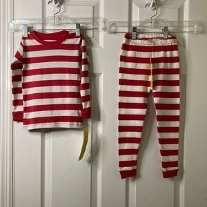 NWT Leveret Red & white striped pajamas, size 3T